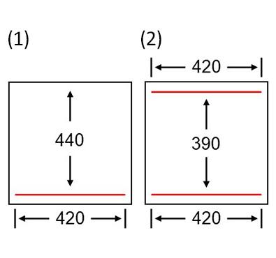 Diagrams of sealing beams position AA-612